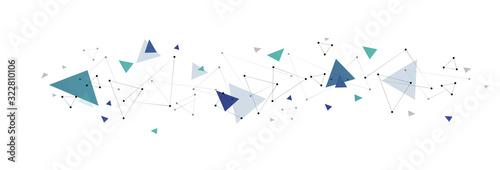 Obraz sfondo, collegamenti, triangoli - fototapety do salonu