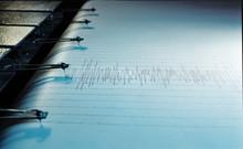 Swinging Needle Of Seismograph...
