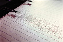 Swinging Needle Of Seismograph At Earthquake.