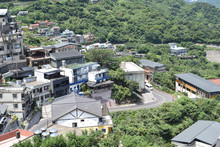 Mountainside Townscape At Ruifan District, New Taipei City, Taiwan