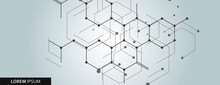 Vector Network Hexagon And Con...