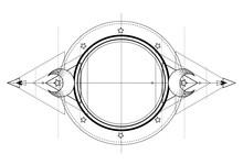 Moon Frame. Sacred Geometry. A...