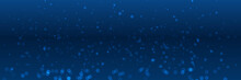 Dark Blue White Bokeh Blur Circle Background
