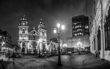 Night View Of San Pedro Church...