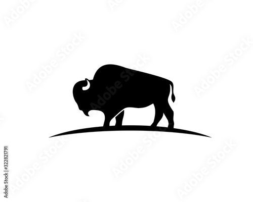 Fotomural Bison silhouette logo
