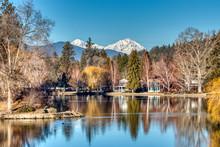 Mirror Pond At Drake Park Moun...