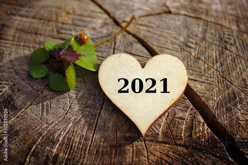 Carta da parati Ein frohes neues Jahr 2021 !