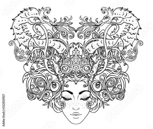 Obraz na plátně Tribal Fusion Boho Diva