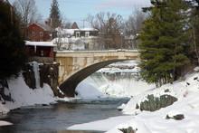 Bridge Over The River In Vermont