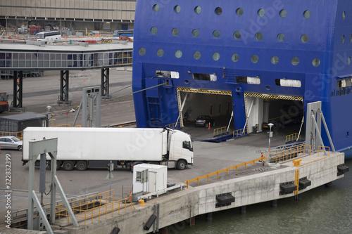 Fotografia, Obraz Sea ferry at the pier