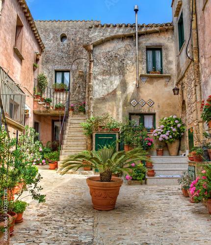 Fototapety, obrazy: From the Italian Village Erice on Sicily