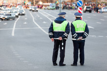 Two Officers Of Traffic Contro...