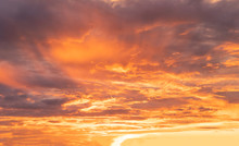 Orange Black Sky With Scattere...