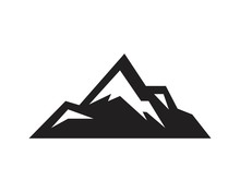 Mountain Large Natural Rock With Snow Top Icon Template Black Color Editable. Mountain Large Natural Rock With Snow Top Icon Symbol Flat Vector Illustration For Graphic And Web Design.