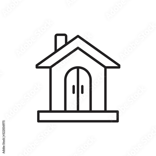 Photo Collage house Icon template black color editable