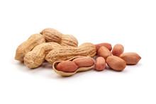 Useful Peanut, Isolated On Whi...