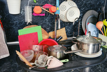 Dirty Dishes Around The Sink I...