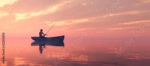 Stampa su Tela fishing boat