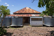 Old Corrugated Iron Water Tanks