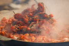 Boiled Crayfish With Seasoning...