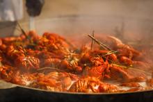 Boiled Crayfish With Seasoning...