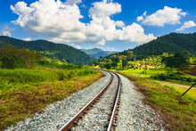 Railway In Countryside Of Thai...