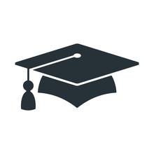 Graduate Cap Logo. University Mortarboard.