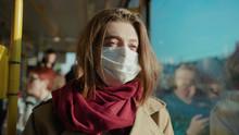 Sick Woman Wearing Mask Lookin...
