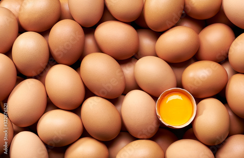 Eggs background close-up Wallpaper Mural
