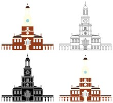 Independence Hall Of Philadelphia Colored