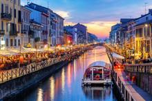 Naviglio Grande Canal In Milan...