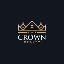 Crown House Line Outline  Logo Design Vector Icon Download