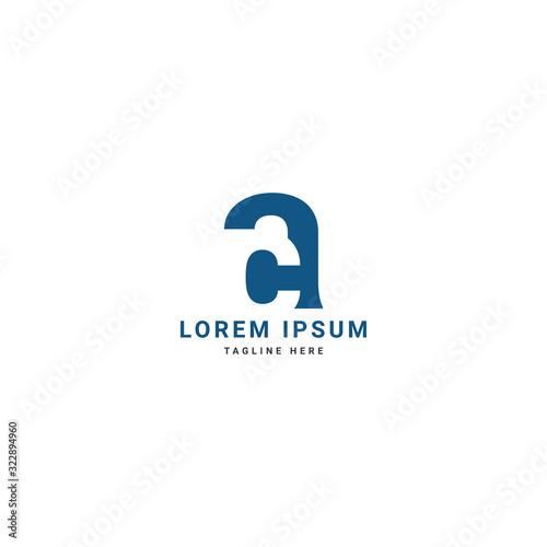 Photo Creative modern elegant trendy unique artistic letter ac/ca initial based letter icon logo