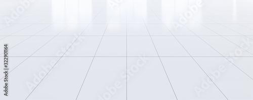Fototapeta empty room and tile floor obraz