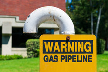 Gas Pipeline Warning Sign On W...