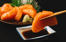 Sashimi, Salmon, Japanese Food...
