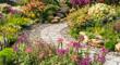 Leinwandbild Motiv path leading through a garden
