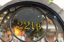 Sherlock Holmes Famous Front Door Address 221B Baker Street, London