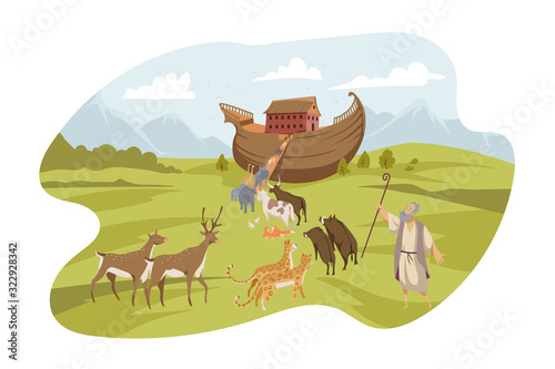 Fototapeta Noahs Ark, Bible concept obraz