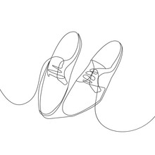 Shoes Continuous One Line Draw...