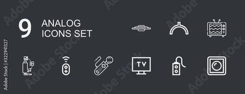 Editable 9 analog icons for web and mobile Wallpaper Mural