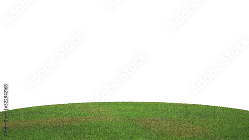 Fototapety, obrazy: 3d of grass floor on the white background