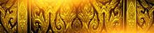 Thai Motifs, Carvings Of Lotus...