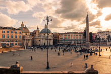Rome Italy -View Of Piazza Del...