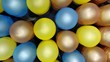 canvas print picture - Closeup shot of colorful balloons spread on the surface