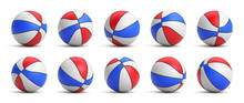 Set Of Tricolor Basketball Bal...