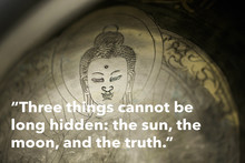 Inspirational Quote By The Buddha Against Buddhist Background (original Photograph)
