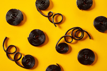 Coiled Spirals Of Liquorice Wi...