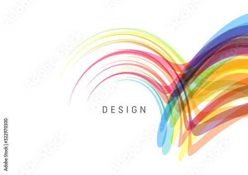 Obraz Curved lines with perspective effect. Optical fiber. 3d abstract background. Vector illustration. - fototapety do salonu