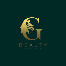 Letter G Luxury Beauty Face Lo...